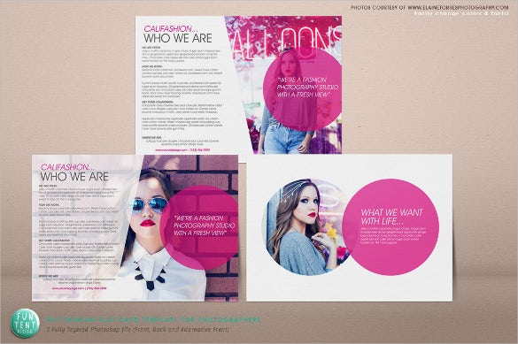 fashion marketing postcard template