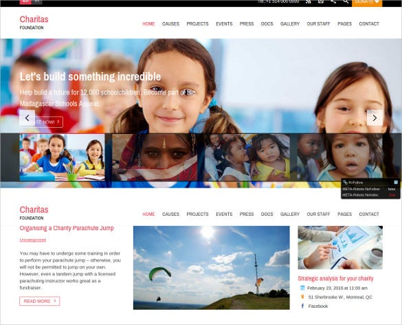 children charity foundation wordpress theme