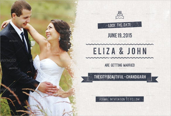 postcard template for wedding with photograph