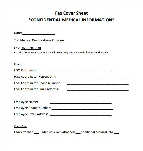 Fax Cover Example  Template