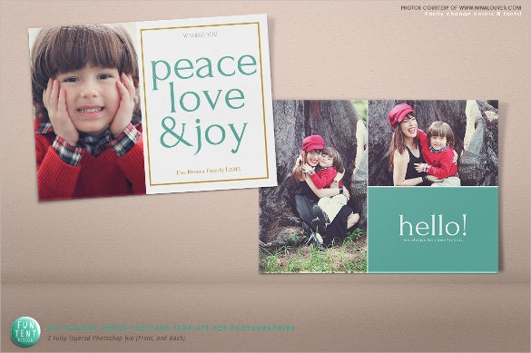 simple photography 5x7 holiday postcard template