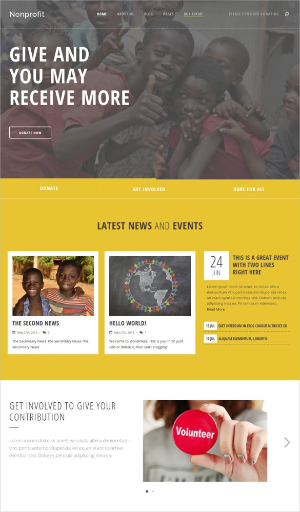 education charity wordpress theme