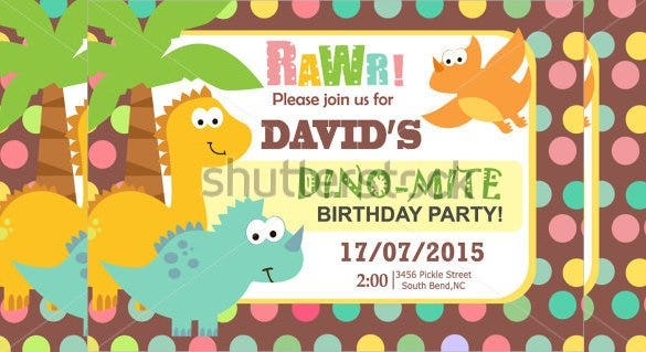 colourful dotted birthday invitation for small kid