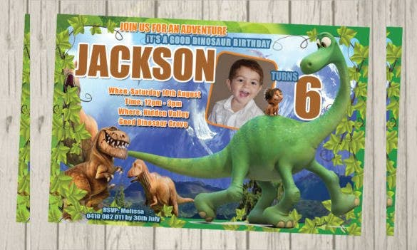 good dinosaur invitation for birthday digital file
