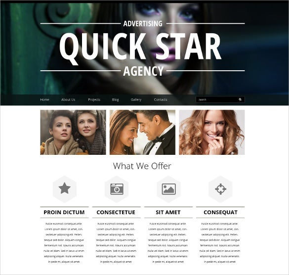 pro creative advertising drupal template
