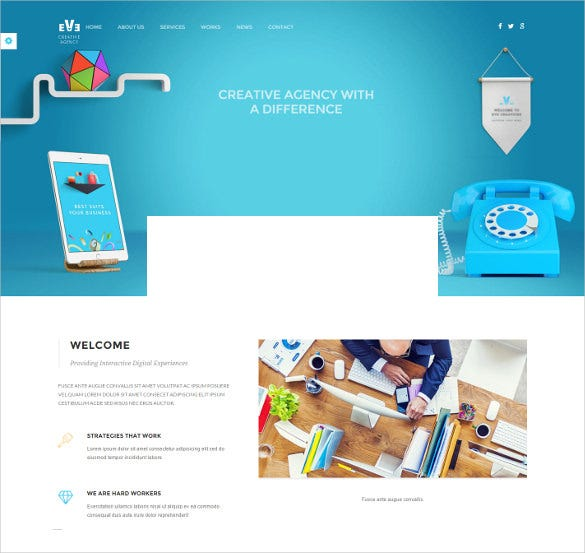 eve creative drupal theme