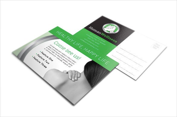 postcard 5x7 indesign template for healthcare services