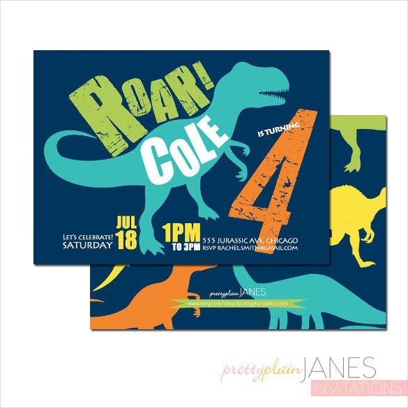 28 dinosaur birthday invitation designs templates psd ai simple blue dinosaur birthday invitation for downl filmwisefo