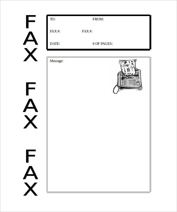Blank Fax Cover Sheets Fax Cover Sheet Template Pdf Format Sample