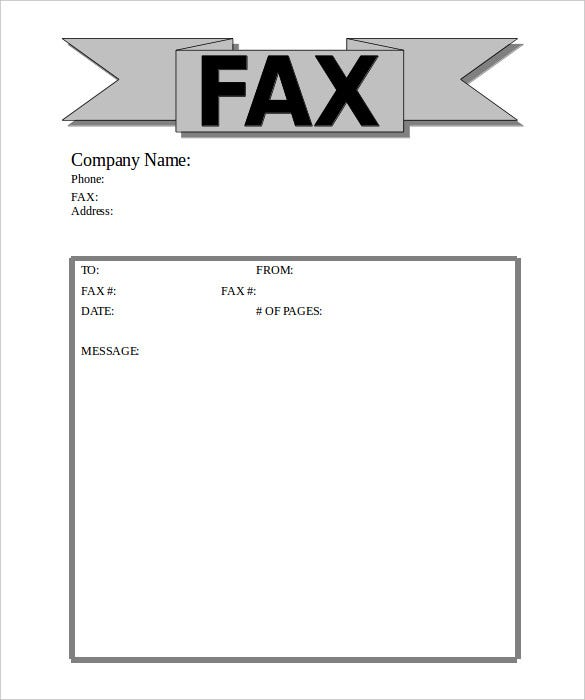 sample buisness banner fax cover sheet word doc for free