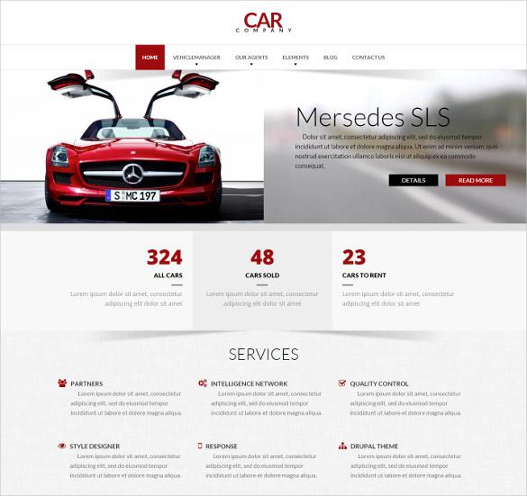 car company drupal responsive creative theme