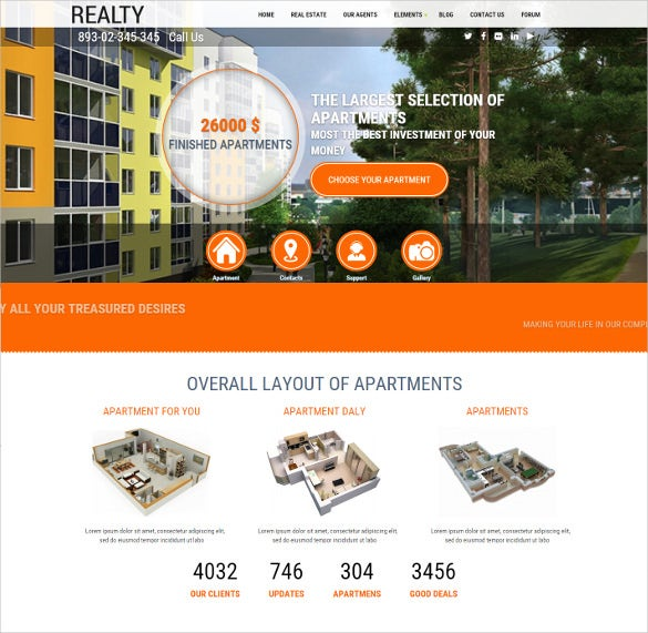 creative drupal real estate theme