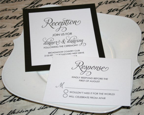 formal modern wedding reception invitation0a