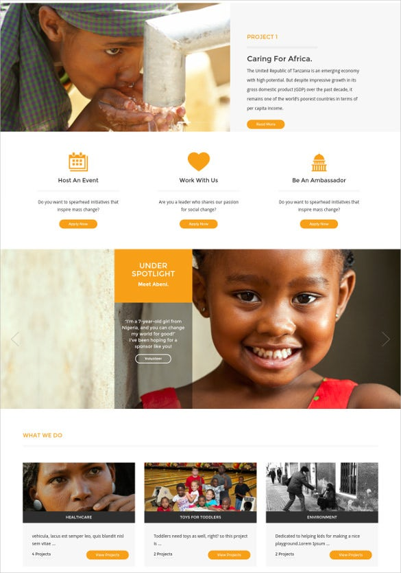 ngo charity wordpress theme
