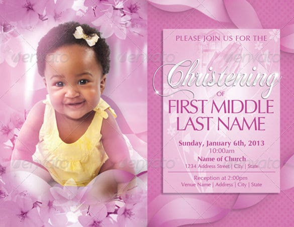 baby christening party invitation templates