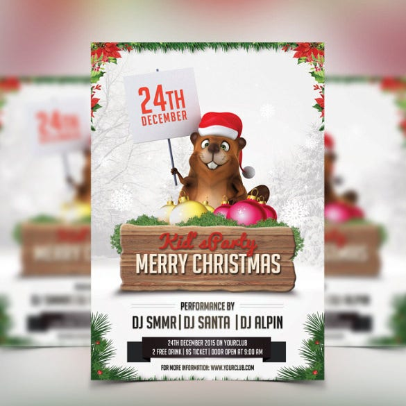 christmas kids party christmas party invitation template