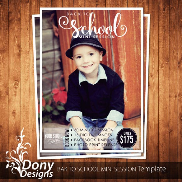 back to school mini session template photography kids1