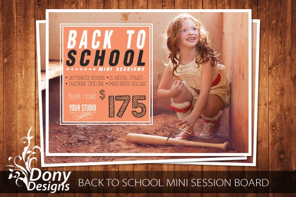 back to school session photoshop template outdoor mini session