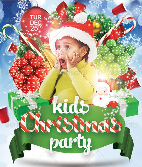 christmas kids party invitation