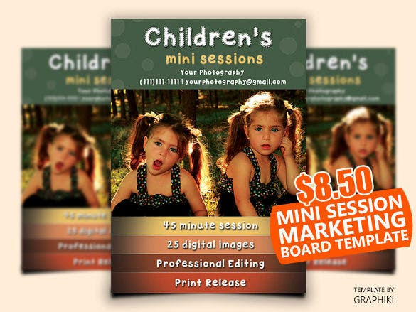 childrens mini session template or photography mini session template kids