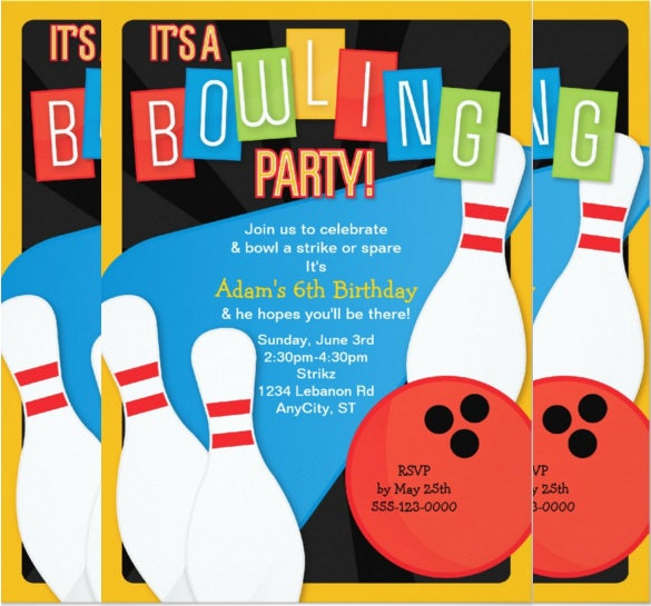 Bowling Invitation Template  BesikEightyCo