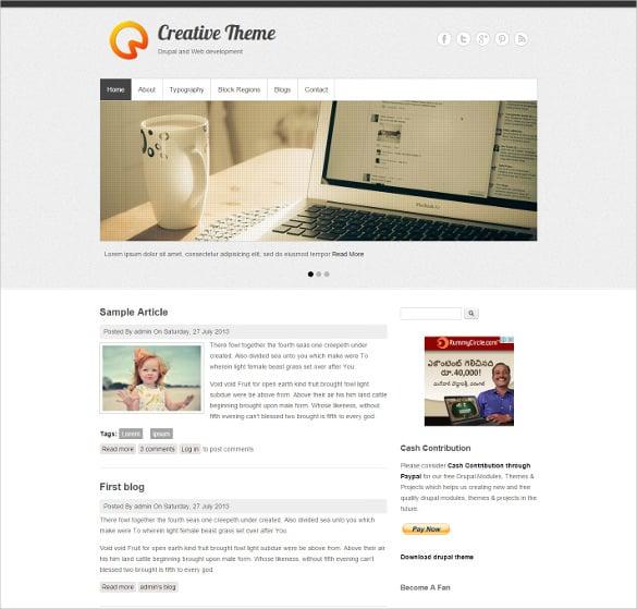 free clean portfolio drupal creative theme