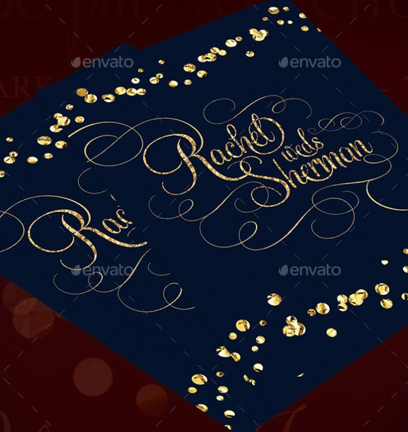 classy modern wedding invitation