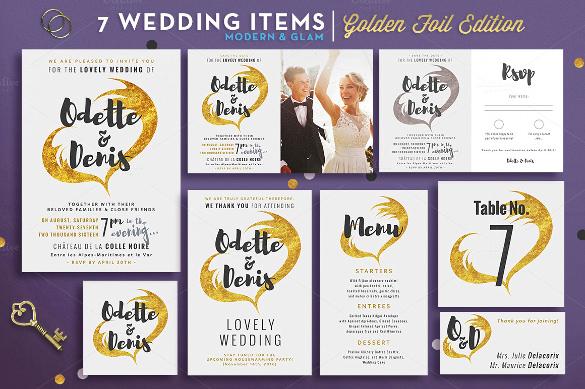 wedding suite golden foil edition