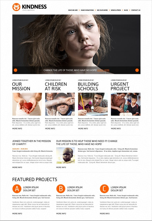 kind charity wordpress theme