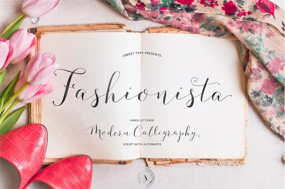 fashionista calligraphy wedding