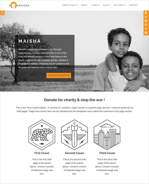 child future charity wordpress theme