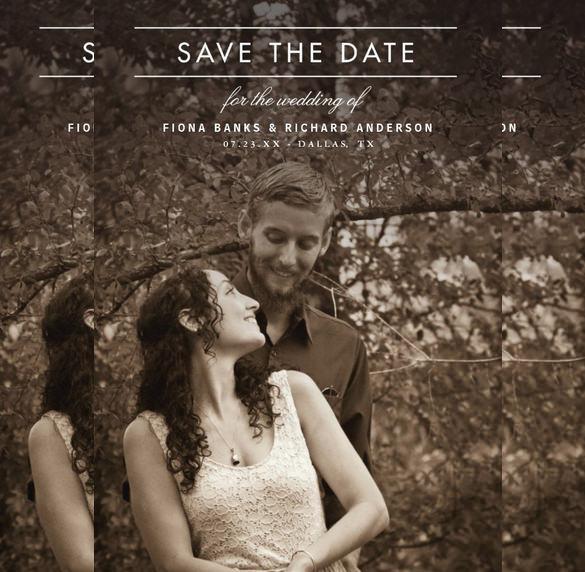 classic type wedding invitation