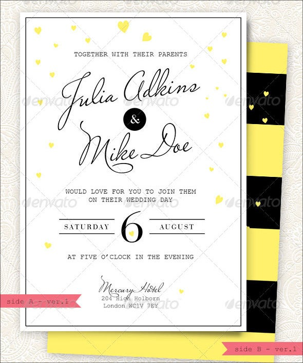 modern and stylish wedding invitation