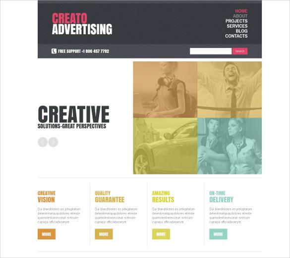 creative marketing agency joomla blog template