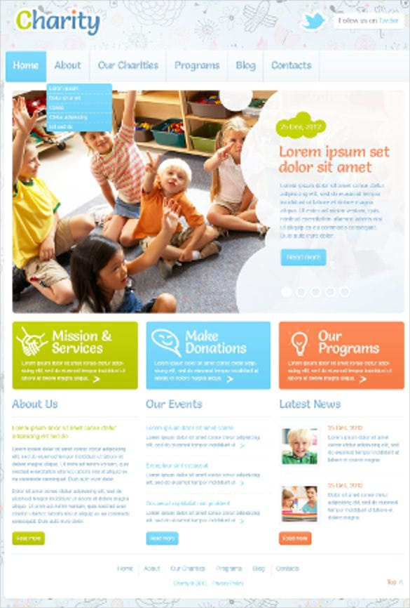 beautiful child charity wordpress theme
