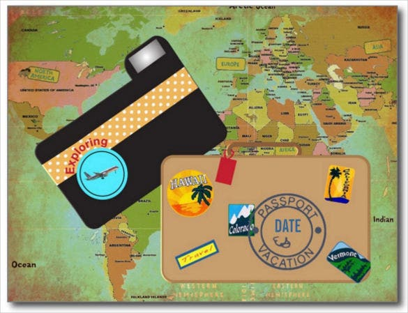 vacationing postcard photoshop template
