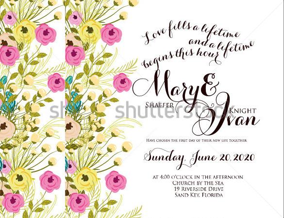 love fills wedding invitation1