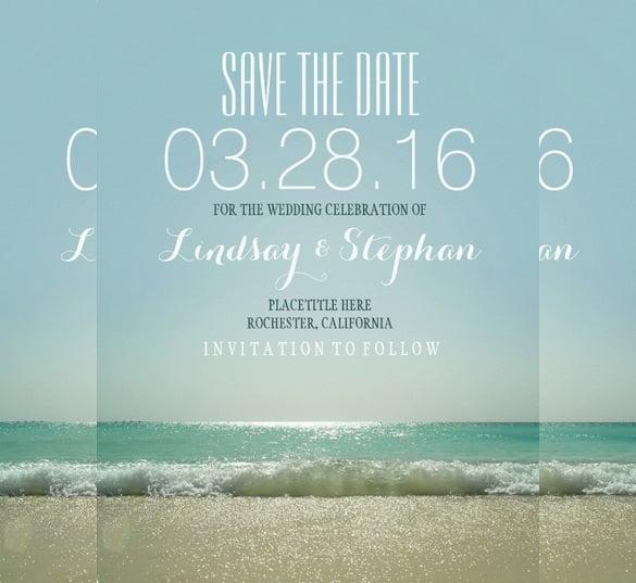 modern beach wedding invitation