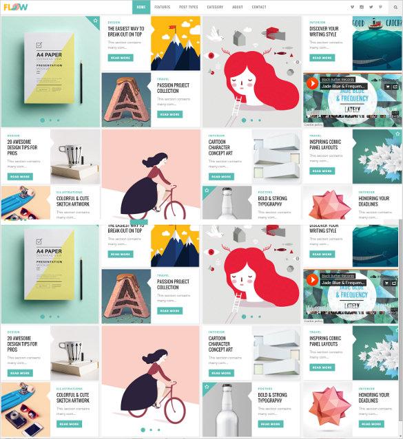fresh creative blog theme