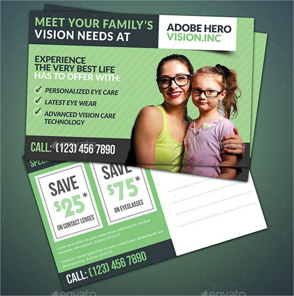 product promotional postcard photoshop template