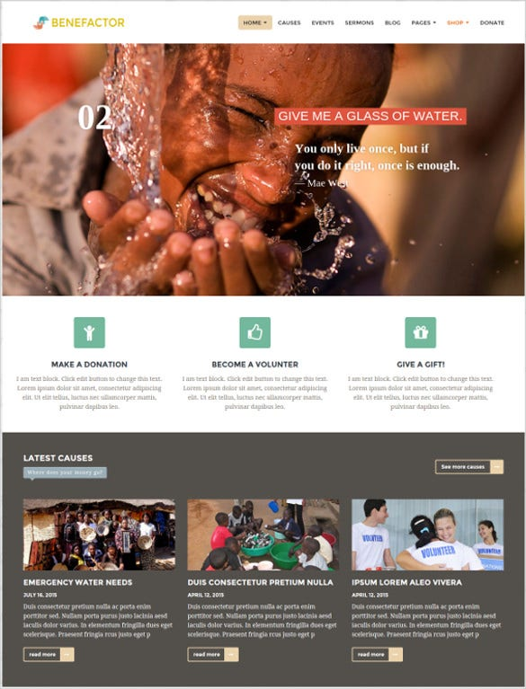 resource charity wordpress theme