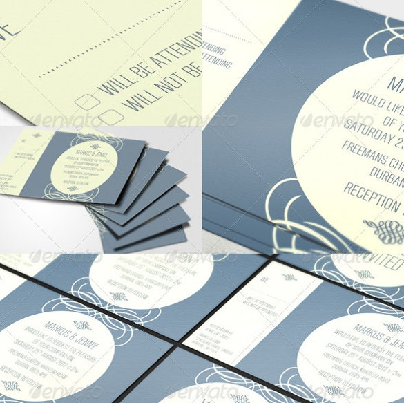 2 colour modern wedding invitation1