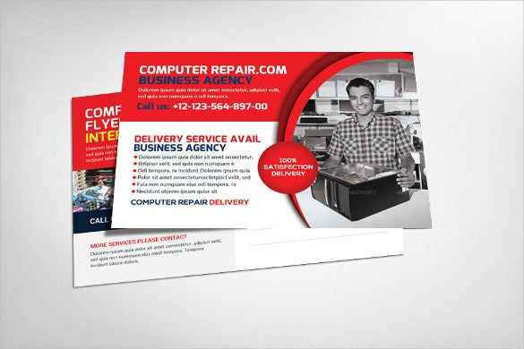 computer repair photoshop postcard templates
