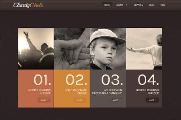 helping child charity wordpress theme