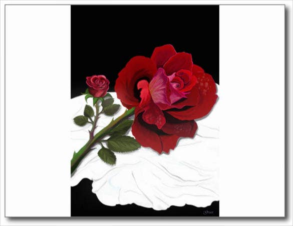 rose postcard photoshop template