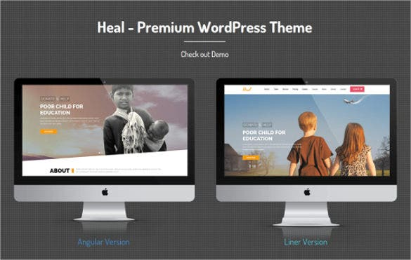 poor child charity wordpress theme