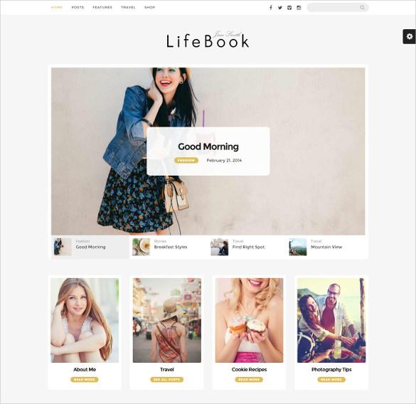 lifebook creative wordpress blog theme