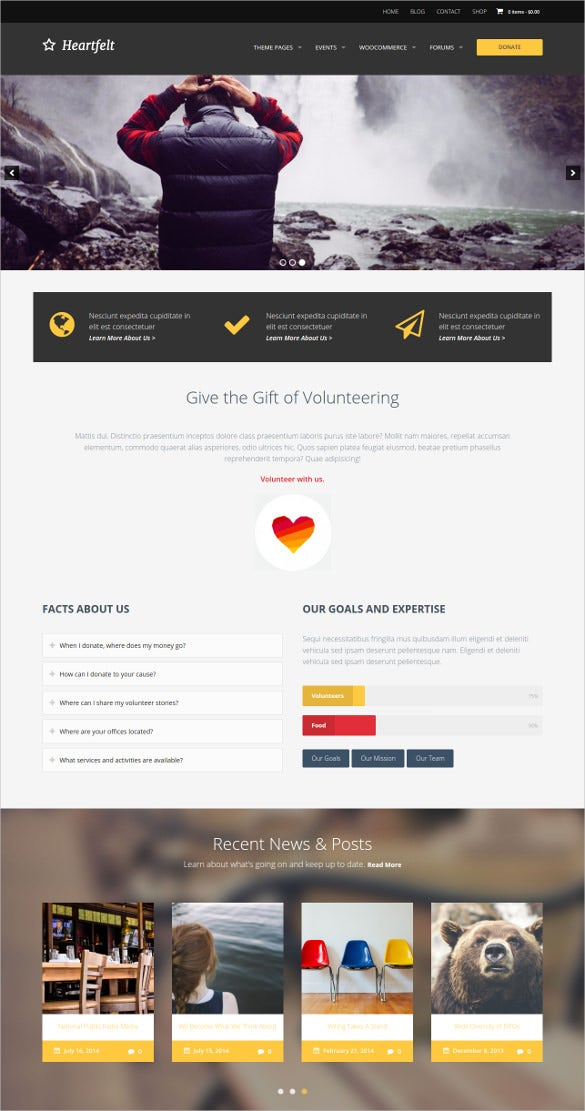 humanitarian charity wordpress theme