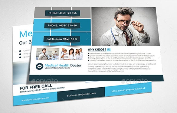 corporate photoshop psd postcard print templates