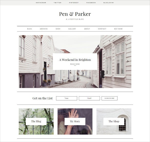 27+ Creative Blog Themes & Templates | Free & Premium Templates